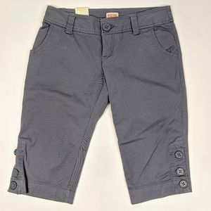 Mossimo Gray Bermuda Shorts Low Rise Relaxed Thigh